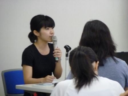 第2セッション 心と体の関係について説明をする古淵さん