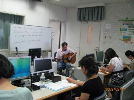 英語による奈良観光ガイド人材養成プログラムの講義の様子