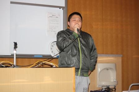 被災体験を語る藤田さん
