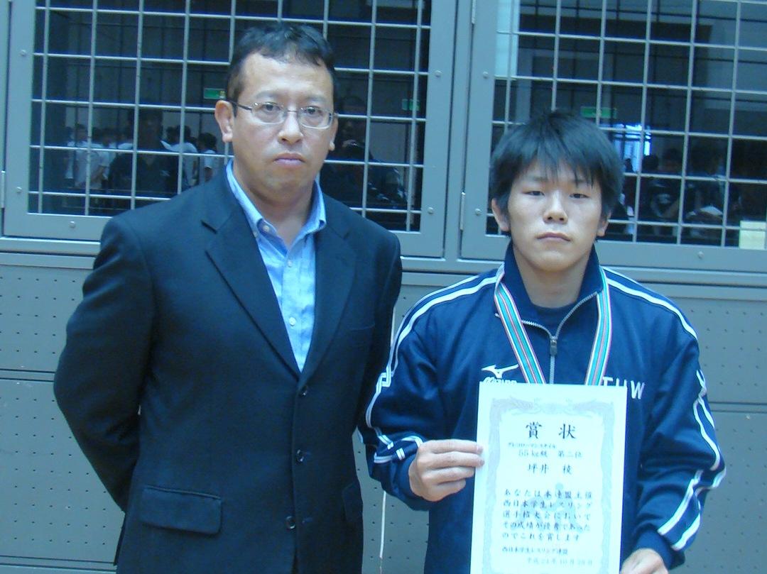 坪井選手と石山監督