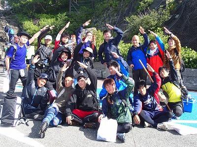富士山五合目で山ポーズ