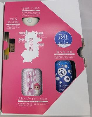 箱を開けるとそれぞれの品の紹介が記載されています