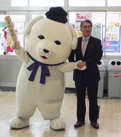 岩井学長と記念撮影
