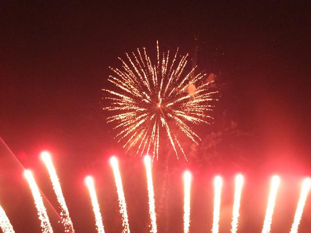 フィナーレを飾る花火