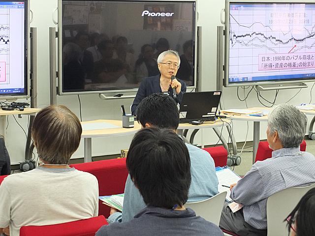 ピケティ氏の理論をわかりやすく解説する中嶋教授