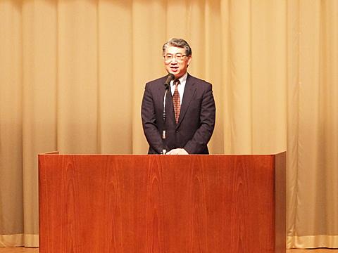 岩井学長の挨拶