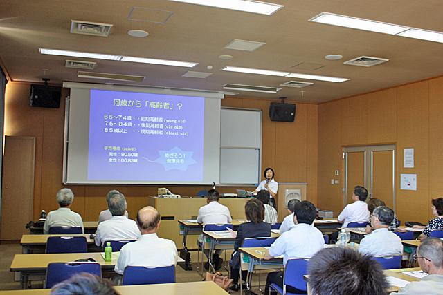 奥村教授の講演に聴き入る受講者の皆さん