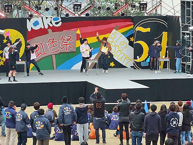 昨年の虹色祭ステージの様子