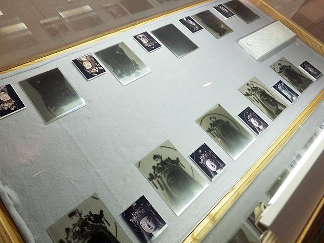 貴重なガラス乾板の数々が展示されました