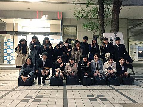 受賞後、達成感あふれる学生たちの記念撮影