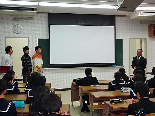 河合第一中学校 佐藤校長先生に講評をいただきました