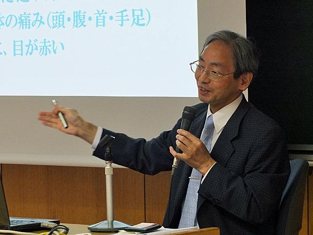 高知医療センター病院長吉川先生のご講演の様子