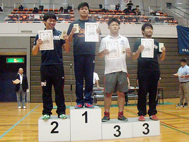 一番高い表彰台での島田樹選手