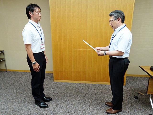 教職員教育功績表彰の様子(7月22日)