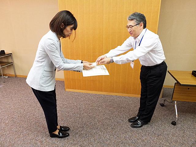 教職員教育功績表彰の様子(8月5日)