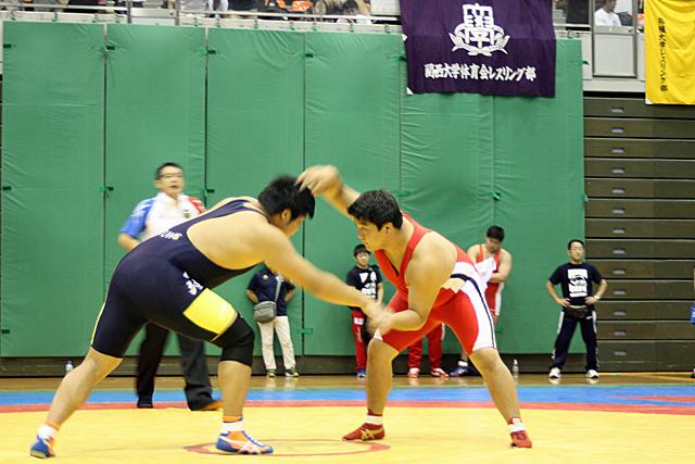 フリースタイル125kg級 野村選手 熱戦となりました