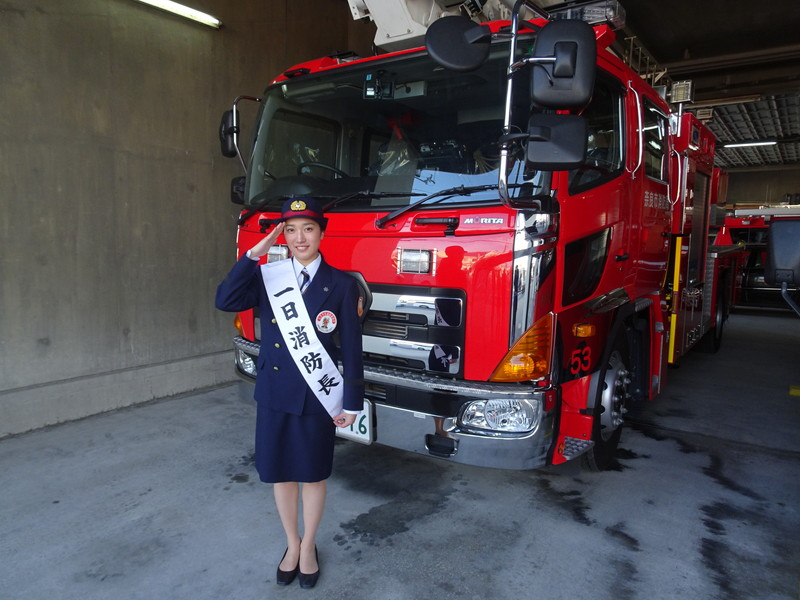 奈良市消防局内を特別に見学させていただきました