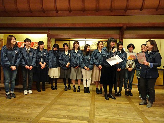代表の小笠原さんが受賞の喜びをコメント