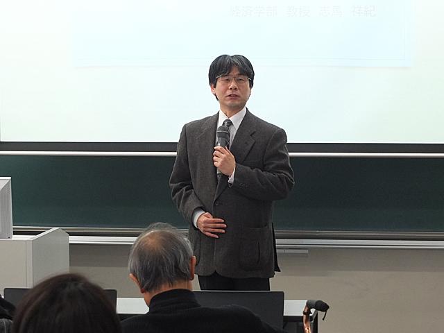 高橋 泰秀 経済経営研究所長による開講挨拶